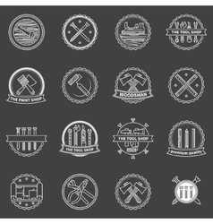 Tools badges and emblems vector