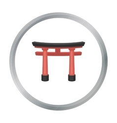 Torii icon in cartoon style isolated on white vector image