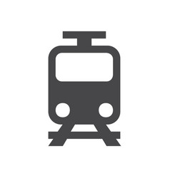 train icon simple car sign vector image