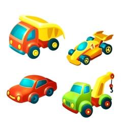 Transport toys set vector