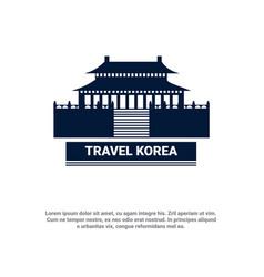 Travel to korea seoul famous landmark south korean vector