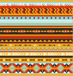 Tribal seamless pattern aztec geometric vector
