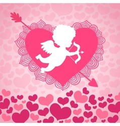 Valentines day angel of love vector image