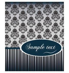 Vintage card with damask vector