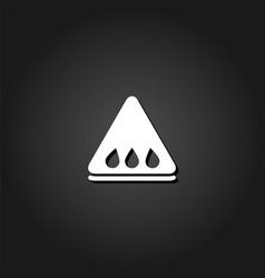 watermelon slice icon flat vector image