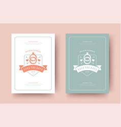 wedding save date invitation card vector image