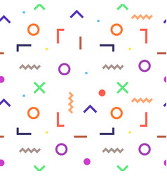 Abstract geometric outline colorful shapes vector