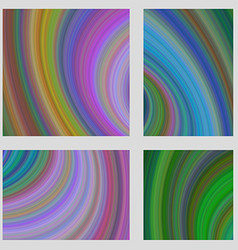 Abstract psychedelic brochure background set vector image vector image