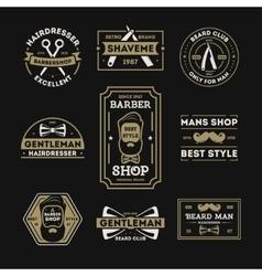Barber shop vintage isolated label set vector image vector image