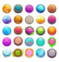 Big set of cartoon round buttons vector image