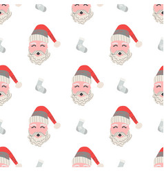 christmas patterns in scandinavian style for your vector image vector image