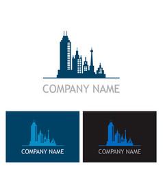 cityscape building company logo vector image vector image