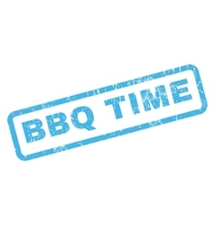 Bbq time rubber stamp vector