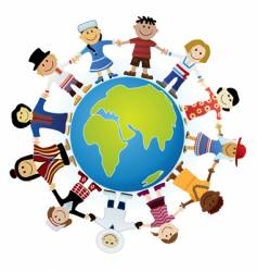 childrens of the world vector image