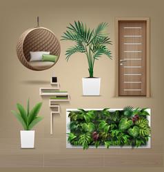 eco-minimalist furniture vector image