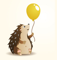 hedgehog with balloon vector image