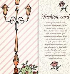 retro hand drawn design card vector image