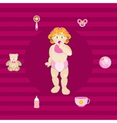 set baby elements vector image
