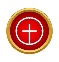 Target icon simple style vector image