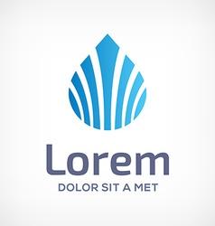 Water drop symbol logo design template icon vector image