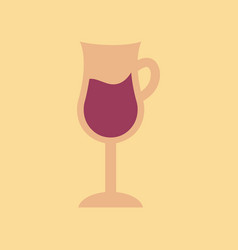Flat icon on background coffee glass cup vector