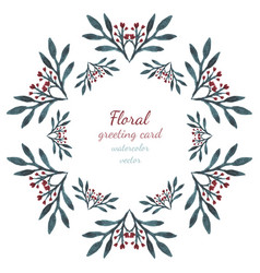 floral collection with leaves and flowers hearts vector image