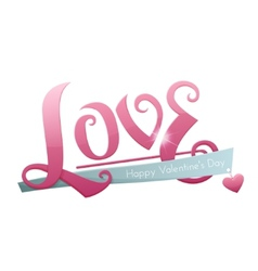 Large Inscription Love vector image
