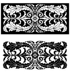 leaf ornament vector image vector image