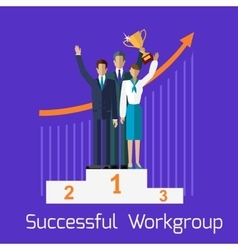 Successful Workgroup People Design vector image vector image