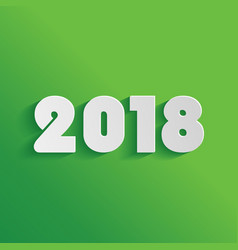 2018 new year on green background vector image