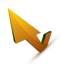 3d abstract symbol with an arrow in the shape of vector image