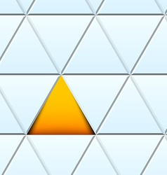 Abstract pattern with cut paper triangles vector image