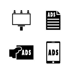 Advertisement simple related icons vector