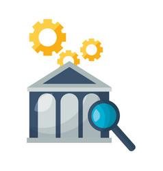 bank stock market analysis vector image