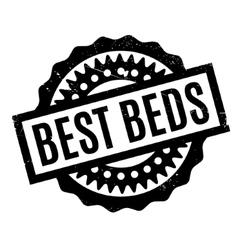 Best beds rubber stamp vector