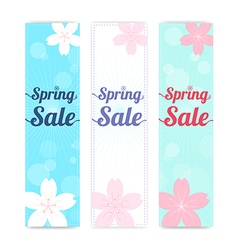 BG Banner background Spring sale cherry blossom vector