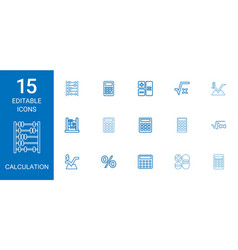 Calculation icons vector