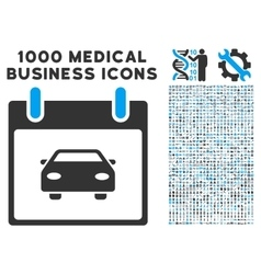 Car calendar day icon with 1000 medical business vector