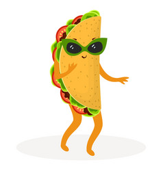 Cartoon cute taco vector