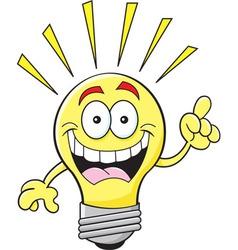 Cartoon light bulb vector