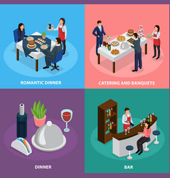Catering banquet isometric concept vector