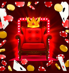 chair king casino flying falling poker cards vector image