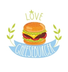 Cheeseburger on white background vector