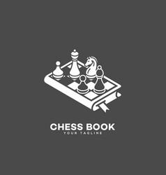 chess book logo vector image