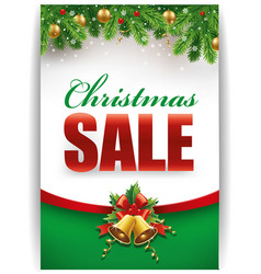 christmas discount sale banner vector image
