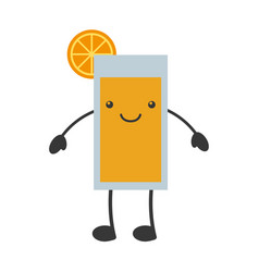 Citrus juice fruit kawaii character vector