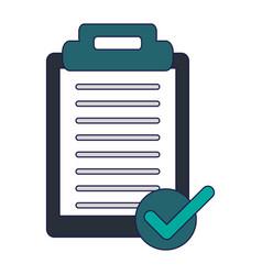 clipboard note symbol blue lines vector image