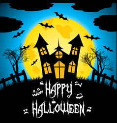 colorful happy halloween postcard vector image