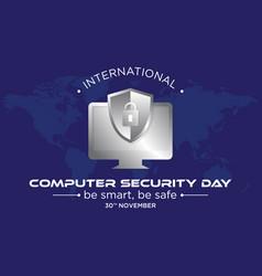 computer security day letter emblem vector image