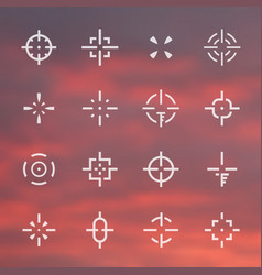 crosshairs set different sights vector image